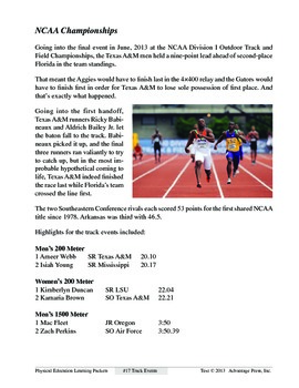 Track Events: An Academic Learning Packet