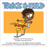 Track & Field Cartoon Clipart
