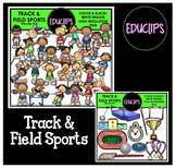 Track & Field Sports Clip Art Bundle {Educlips Clipart}