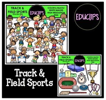 Track & Field Sports Clip Art Bundle {Educlips Clipart}