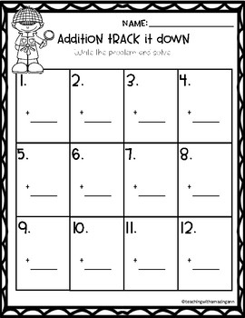 Track It Down:  Addition