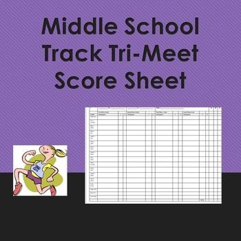 Track Meet Score Sheet (Tri-Meet)