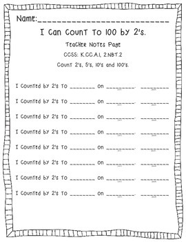 Track Student Counting Fluency