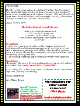 4th-7th GRADE Writing STAAR READY:  Track your progress GRAMMAR