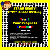 4th-7th GRADE Writing STAAR READY:  Track your progress GRAMMAR