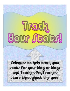 Track Your Stats Binder for Blog & TpT Store
