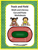 Track and Field Kindergarten Special Education Autism Cut and Paste Fine Motor