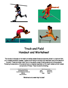Track and Field Handout and Worksheet