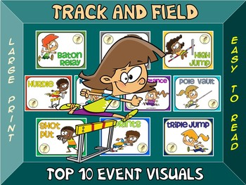 Track and Field- Top 10 Event Visuals- Simple Large Print Design