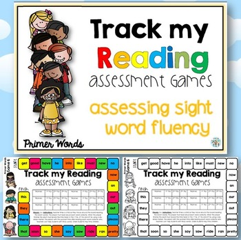 Track my Reading Fluency Assessment Games PRIMER Words