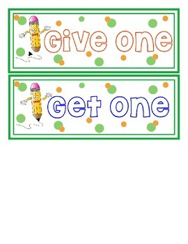 Track your pencils with: Give one Get one