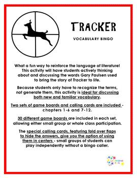 Tracker Vocabulary Bingo