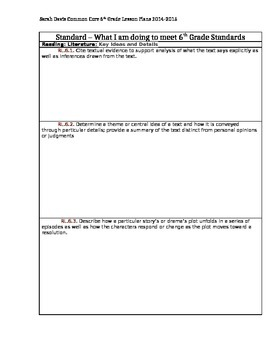 Tracking 6th Grade Common Core Standards