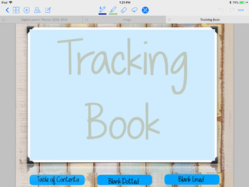Tracking Book to be used with Goodnotes or a PDF Annotator