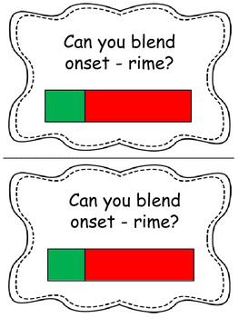 Tracking Cards for sentences, syllables, onset-rime, sounds in words