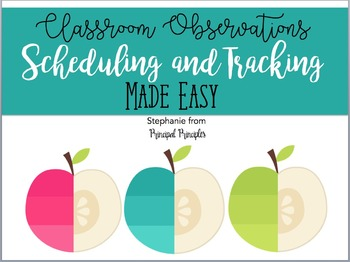 Tracking Classroom Observations - Form