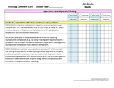 Tracking Common Core 4th Grade Math CCGPS Checklist