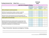 Tracking Common Core 5th Grade Math CCGPS Checklist