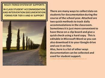 Tracking Data For Student Documentation