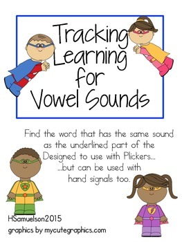 Tracking Learning for Vowel Sounds with Plickers