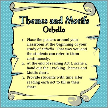 Tracking Motifs and Themes in Othello