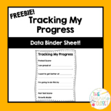 Tracking My Progress Data Binder Sheet