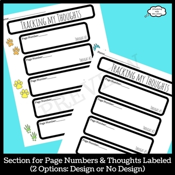 Tracking My Thoughts Graphic Organizer
