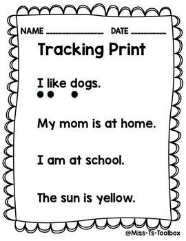 Tracking Print FREEBIE