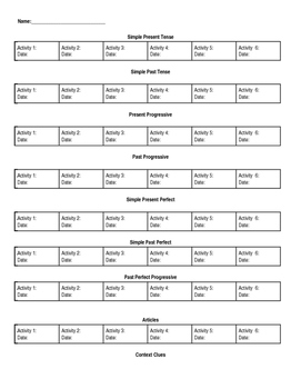Tracking Progress in English