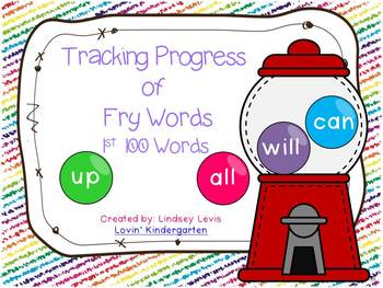 Tracking Progress of 1st 100 Fry Words {Gumball Style!}