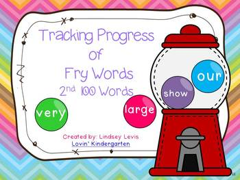 Tracking Progress of  2nd 100 Fry Words {Gumball Style!}