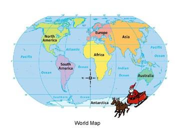 Latitude longitude worksheet teaching resources teachers pay teachers tracking santa with longitude and latitude tracking santa with longitude and latitude gumiabroncs Gallery