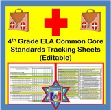 Tracking Sheets (EDITABLE) Common Core 4th Grade ELA by Do