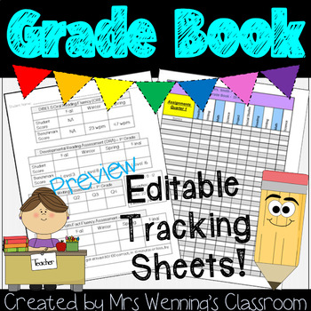 Tracking Sheets for Grades, Homework, and Assessments