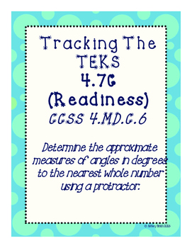 Tracking The TEKS 4.7C (Readiness)