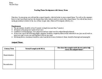 Tracking Theme Development - Graphic Organizer for Presentation