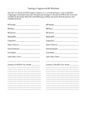 Tracking a Bill in Congress Worksheet