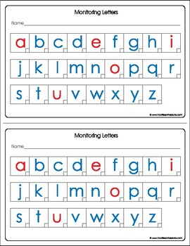 Montessori Tracking known Print letters.