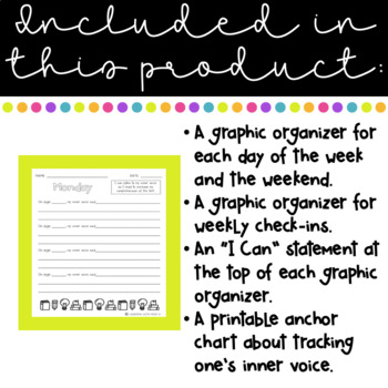 Tracking our Inner Voice Graphic Organizer