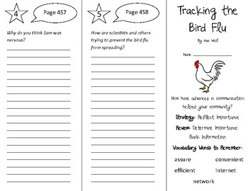 Tracking the Bird Flu Trifold - 5th Grade Literacy by Design Theme 13