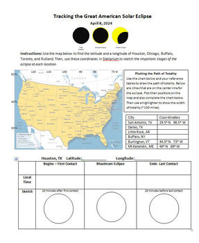 Tracking the Great American Solar Eclipse 2024