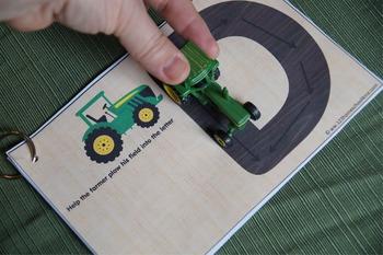 Tractor Alphabet Plowing