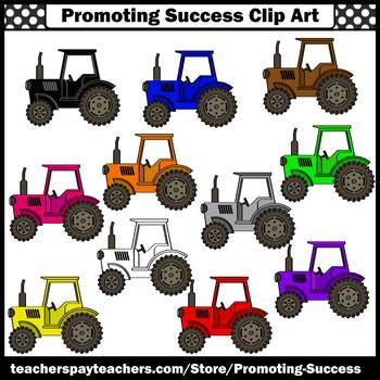 Tractor Clip Art, Farm Theme, Commercial Use SPS