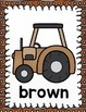 Tractor Color Word Posters