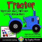 Tractor Uppercase and Lowercase Letter Match Mats