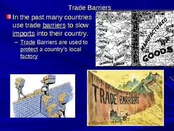 Trade Barriers (Embargo, Quota, Tariff) & (NAFTA) Powerpoint