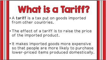 Trade Barriers: Tariff, Quota, Embargo ~ Notes & Activities