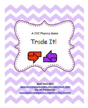 Trade It!  A short vowel (CVC) card game.