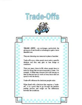 Trade Offs Lesson