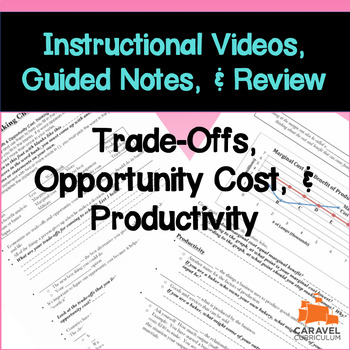 Trade-Offs, Opportunity Cost, & Productivity Instructional Videos & Guided Notes